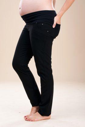 מכנס להריון גזרת סקיני שחור