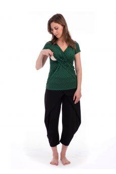 חולצת הנקה דנה בצבע ירוק