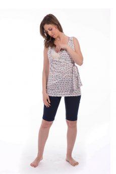 חולצת הנקה - אמה דוגמת עקבים