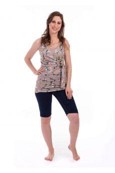 חולצת הנקה - אמה דוגמת ציפורים