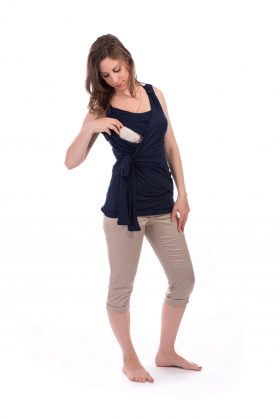 Breast Feeding Blouse - Emma - Blue