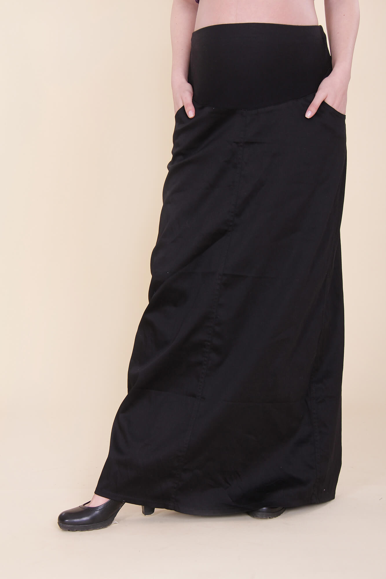 Maternity Skirt – Maxi – Black