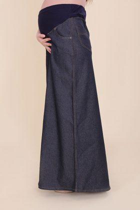 חצאית להריון מקסי ג'ינס
