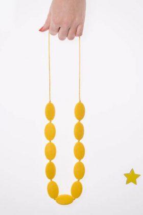 שרשרת סיליקון אבנים – צהוב