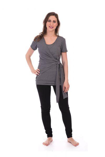 חולצת הנקה - ענת שחור-לבן