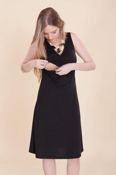 שמלת הנקה - איה צבע שחור