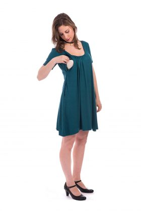 Breast Feeding Dress - Ilana - Turquoise