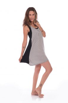 Breast Feeding Tunic - Lena - Black & White