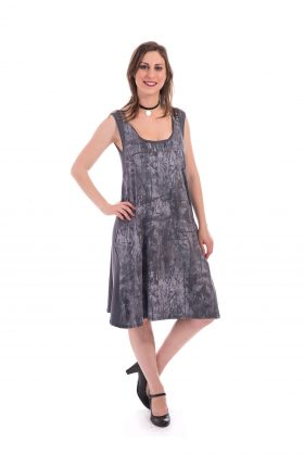 Breastfeeding Dress - Liby - Gray Printed