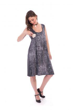 שמלת הנקה – ליבי אפור מודפס