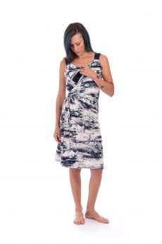 Breast Feeding Dress - Sonya - Blue & White