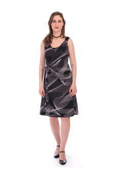 שמלת הנקה - סוניה שחור הדפס