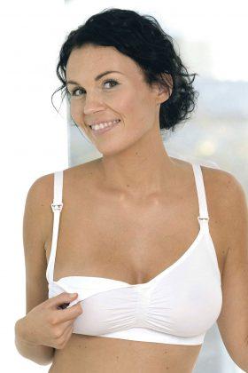 Carriwell Seamless Nursing Bra - White