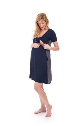 Maternity Dress - Ilana - Blue