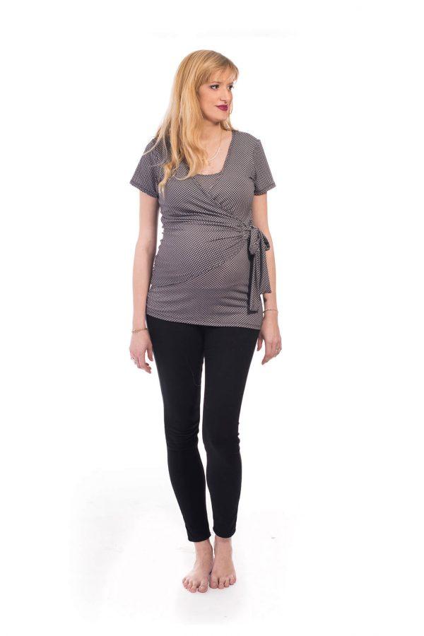 חולצת הריון - ענת שחור-לבן