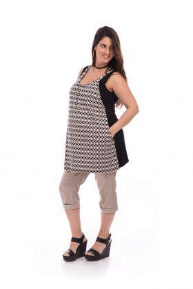 Maternity Tunic - Lena - Black & White