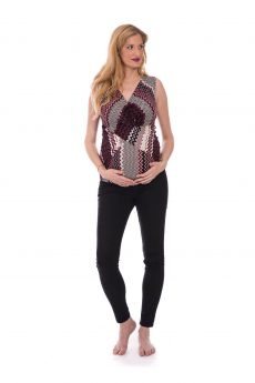 Maternity Top - Nitzan - Burgundy