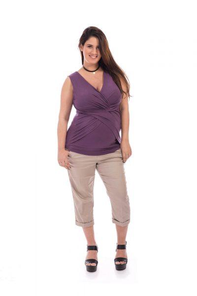 חולצת הריון - ניצן סגול
