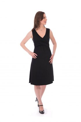 Maternity Dress - Aya - Black
