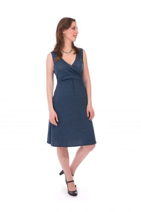Breast Feeding Dress - Aya - Blue