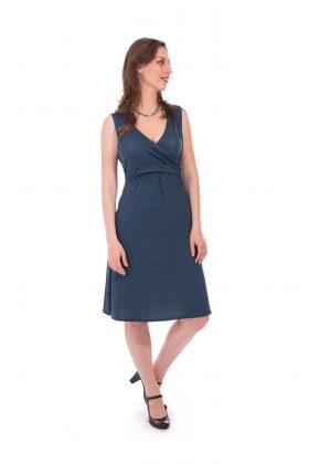 Breast Feeding Dress - Aya - Blue