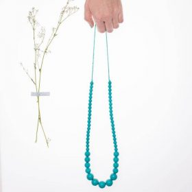 Graded Silicon Necklace - Turquoise