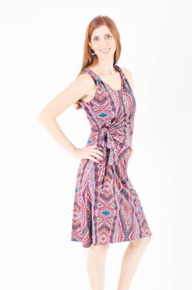 Breast Feeding Dress - Sonya - Printed