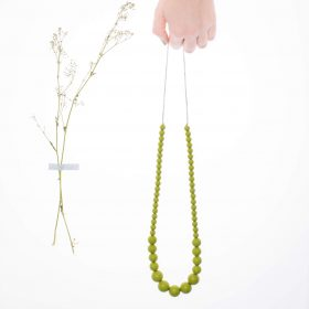 Graded Silicon Necklace - Green