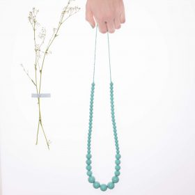 Graded Silicon Necklace - Light Blue
