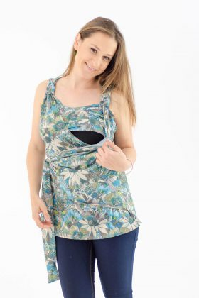 Breast Feeding Blouse – Emma – Flowery