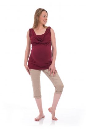Breast Feeding Blouse - Gali - Burgundy