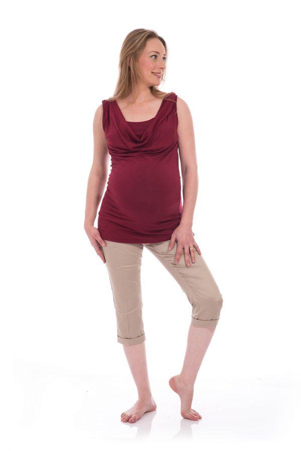 חולצת הנקה גלי בצבע בורדו