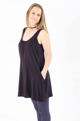 Breast Feeding Tunic - Lena -Black