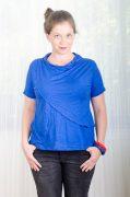 חולצת הנקה - גילת בצבע כחול