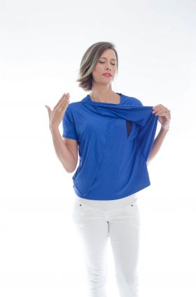 Breast Feeding Blouse - Gilat - Blue