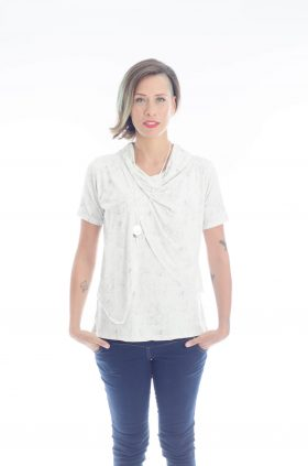 Breast Feeding Blouse - Gilat - White