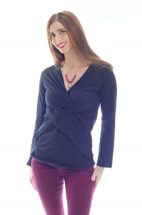 Breast Feeding Blouse - Dana - Black