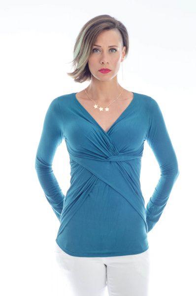 חולצת הנקה דנה בצבע טורקיז