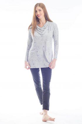Gal - Breast Feeding Tunic - Printed Gray