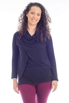 Breast Feeding Blouse – Gilat – Black