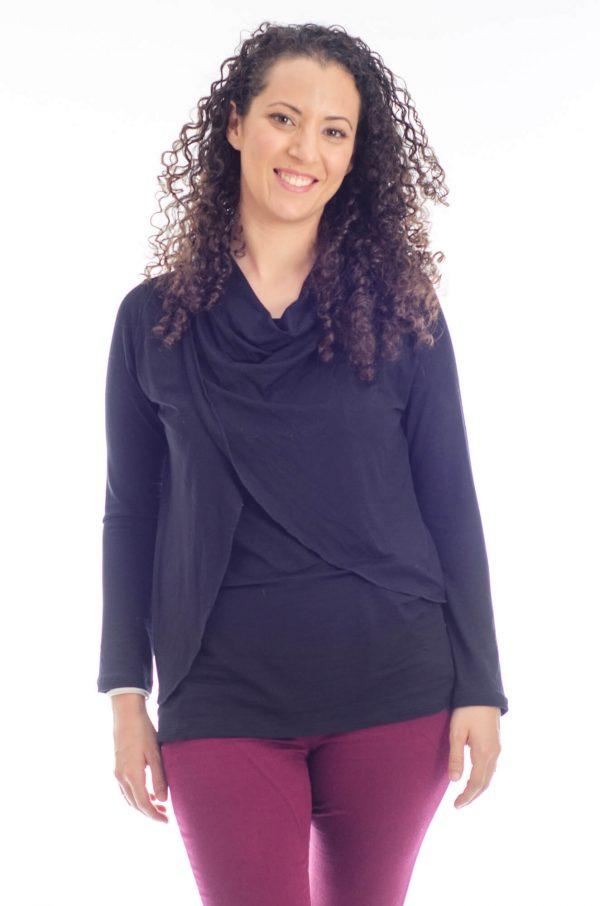 חולצת הנקה גילת בצבע שחור