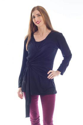 חולצת הנקה – שני שחור