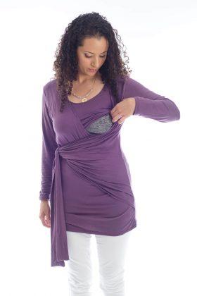 חולצת הנקה – שני סגול
