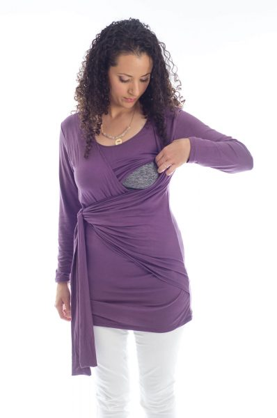 חולצת הנקה שני בצבע סגול