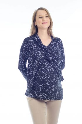 Gal - Pregnancy Tunic - Black with Dots