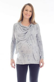 Gal - Pregnancy Tunic - Printed Gray