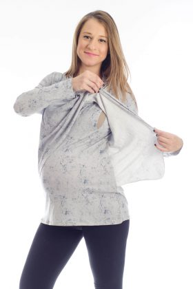 Gal – Pregnancy Tunic – Printed Gray