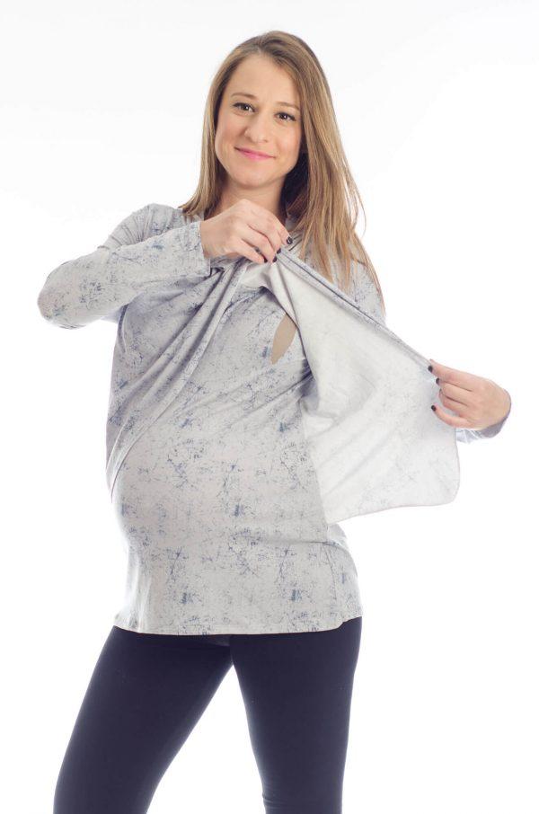 Gal - Pregnancy Tunic - Printed Gray