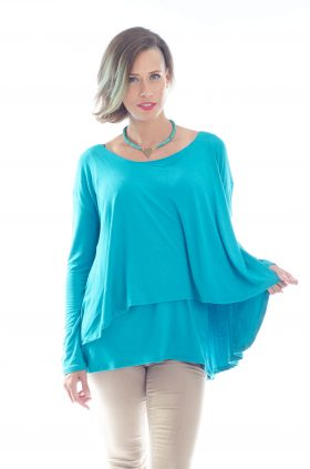חולצת הריון חגית בצבע טורקיז