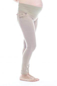 מכנסי הריון גזרת סופר-סקיני בצבע קאמל